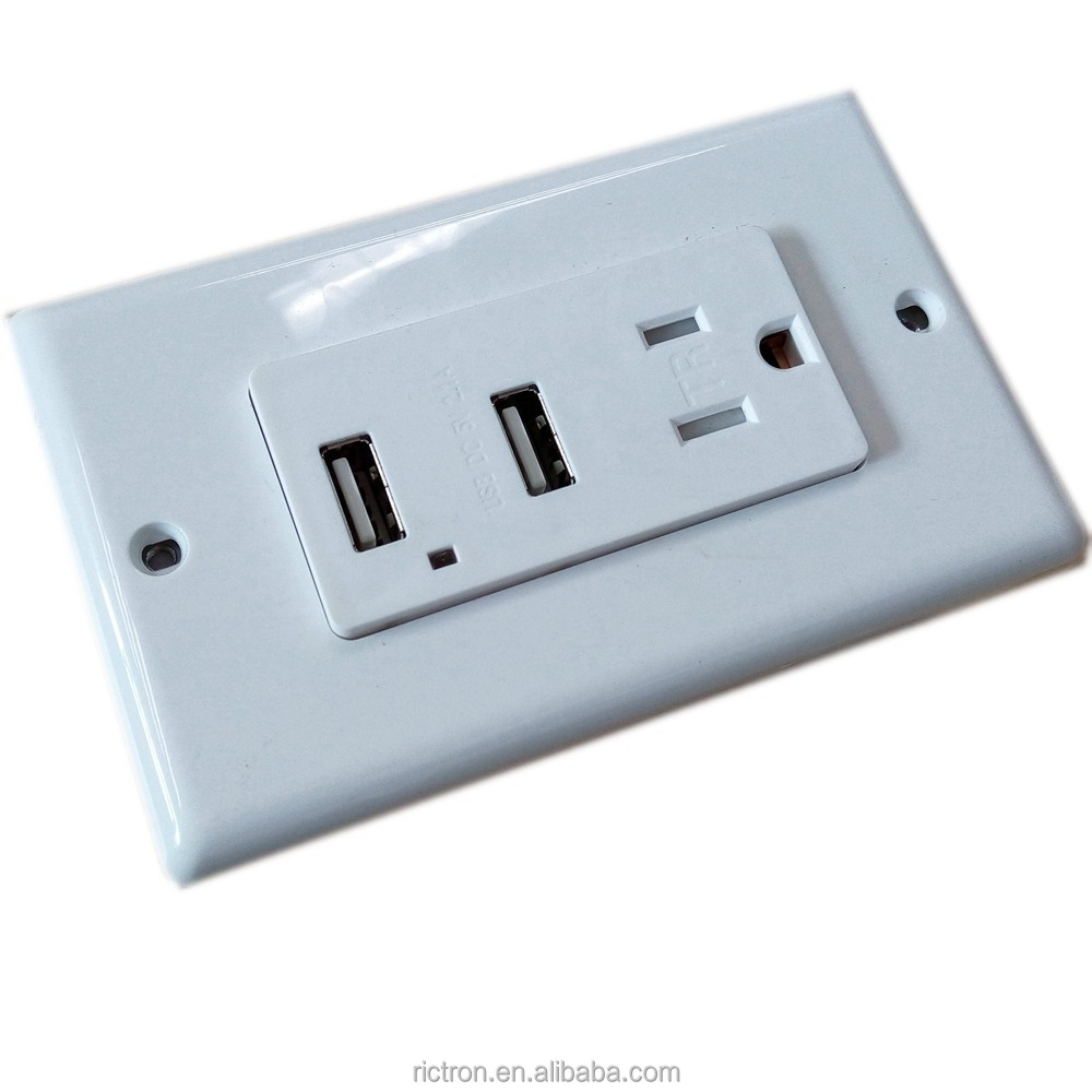 Con 2 x usb enchufes adaptadores el ctricos y sockets - Enchufes con usb ...