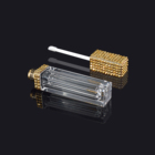 High Quality Cosmetics Lip Gloss Packaging Box Bling Diamond Plastic Clear Square Private Label Lipstick Tube Lipgloss Tube