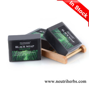 Small Quantity Best Supplier Whitening Control Oil Anti Acne Olive Oil Bamboo Charcoal Black Soap