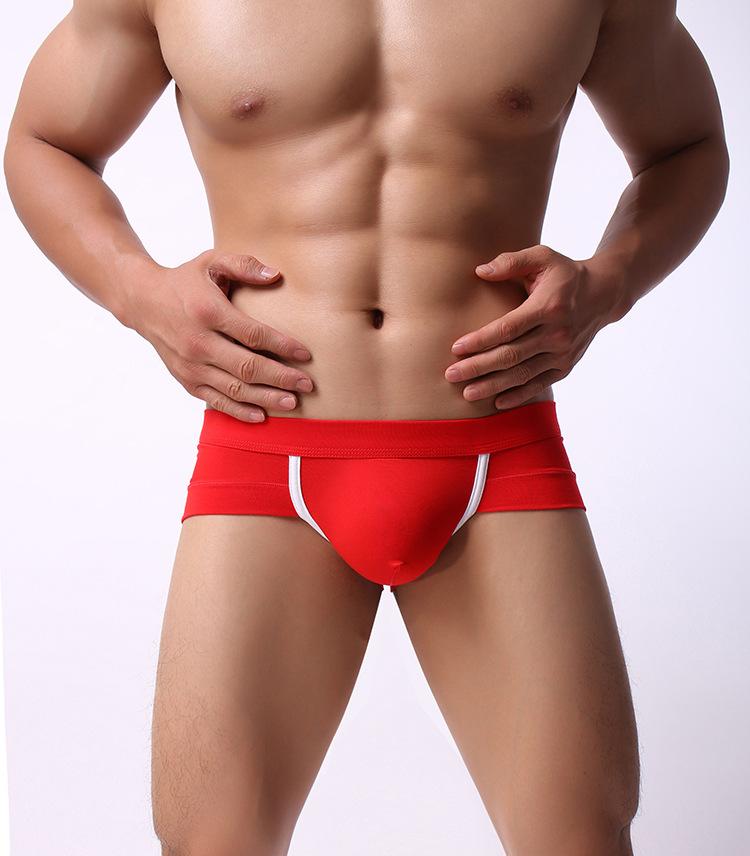 Bragas de textura viscosa de cintura baja ropa interior Sexy para hombres