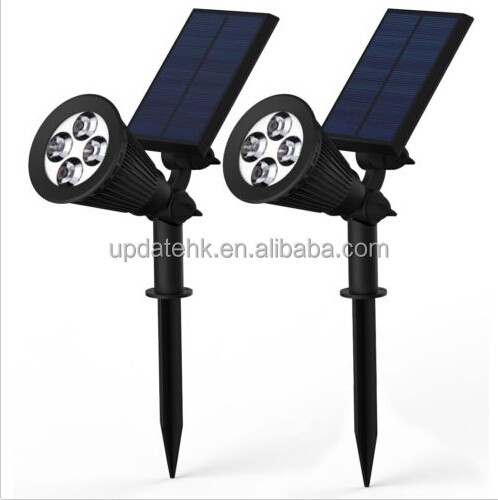 Solar Garden Yard Lawn Lamp Spot Lights Outdoor Landscape Path 4-LED Spotlight