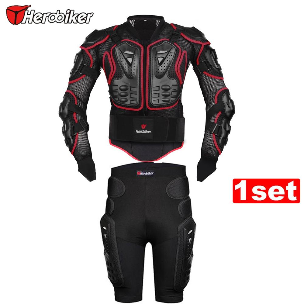 HEROBIKER Red Motorcycle Riding Body Armor Protection