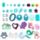 Wholesale Custom Food Grade BPA Free Teething Pendant Chew Toy Silicone Baby Teether