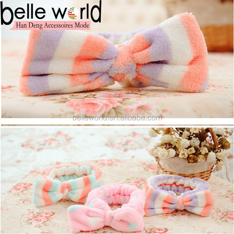 Factory price Bowknot Hair Wrap Shower Wash Face Bath Spa Hairband