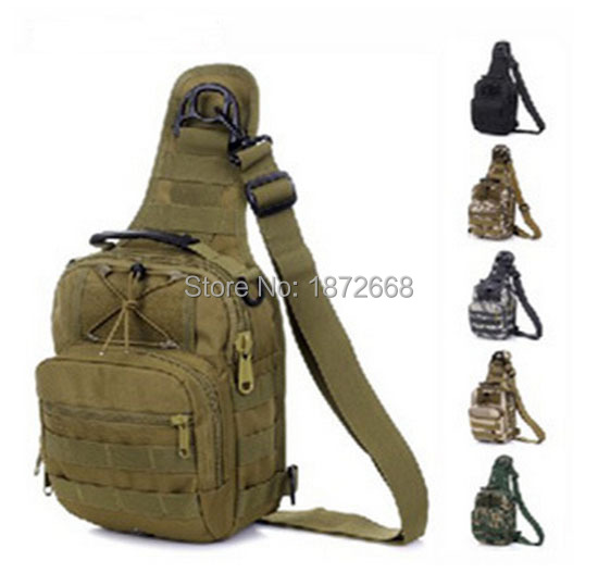 Military Tactical Chest Pack Fly Equipment Nylon Wading Chest Pack Cross Body Sling Single Shoulder Bag Sports & Entertainment Climbing Bags