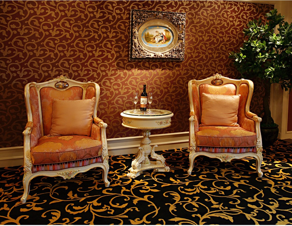 Luxury French Rococo Style Living Room Armchair With Coffee Table ...