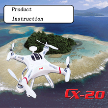 Cheerson CX20 CX-20 CX 20 2.4G RC Quadcopter 4 Axis Drone Wifi Camera Auto-Pathfinder Helicopter UFO Support FPV RC Quadcopter