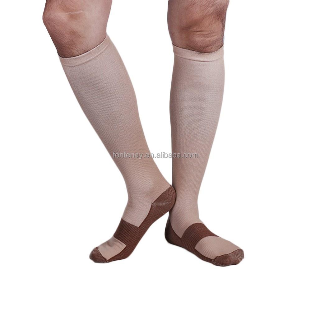Compresión punto cobre fibra calcetines de nylon deporte-Calcetines ...