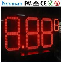 fuel price display gas station fuel price signs 7 segment module/led wall clock digital/ oil price display petrol station