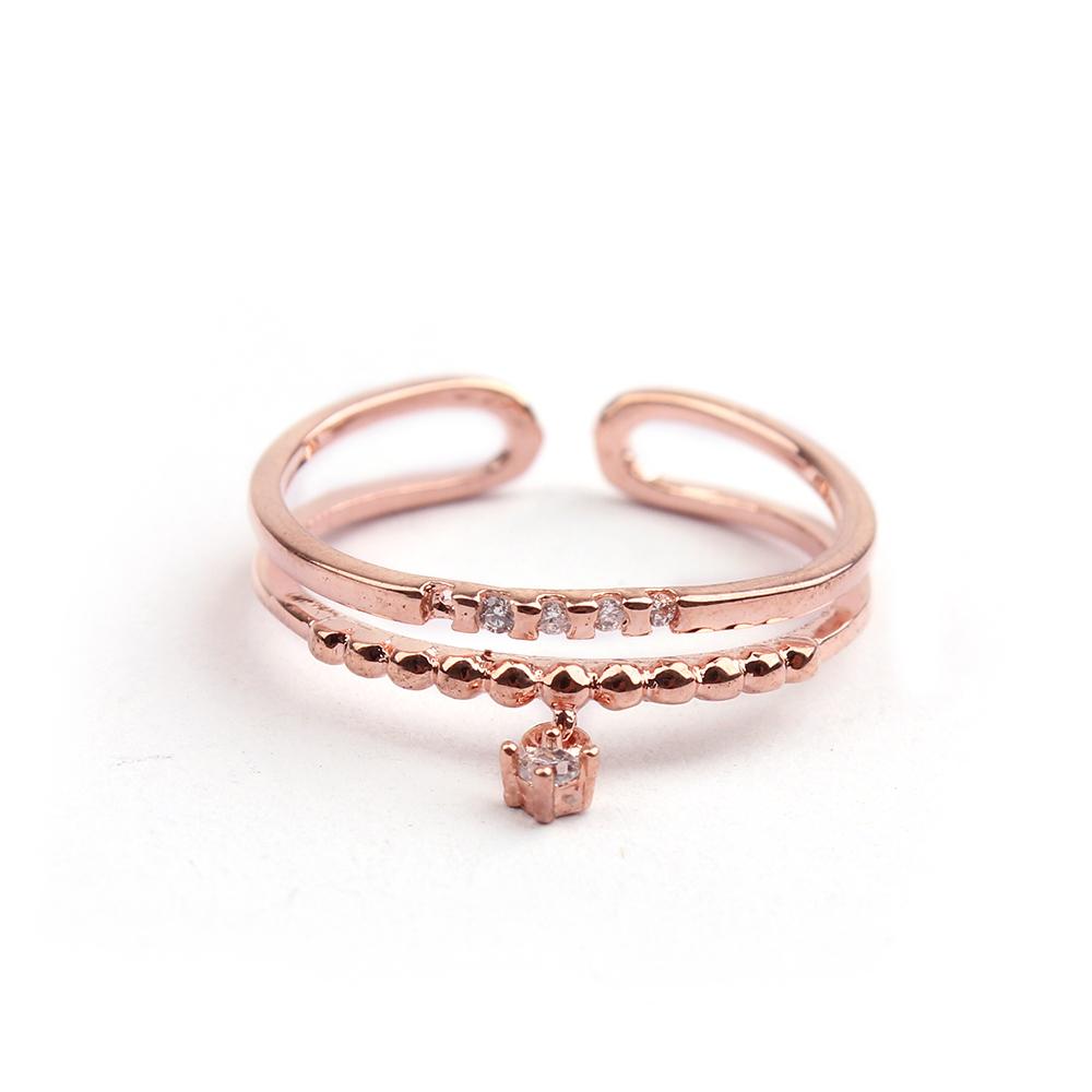 2016 Latest Design Zircon Ring Jewelry Rose Gold Love Imitation ...