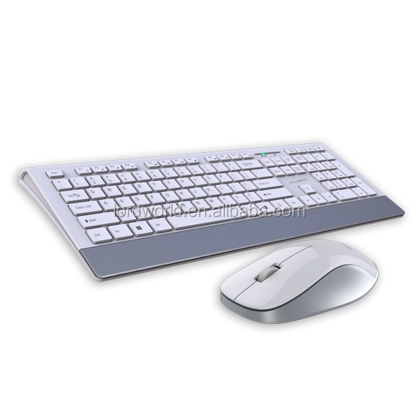 slim line low profile 2.4Ghz wireless keyboard mouse pack combos