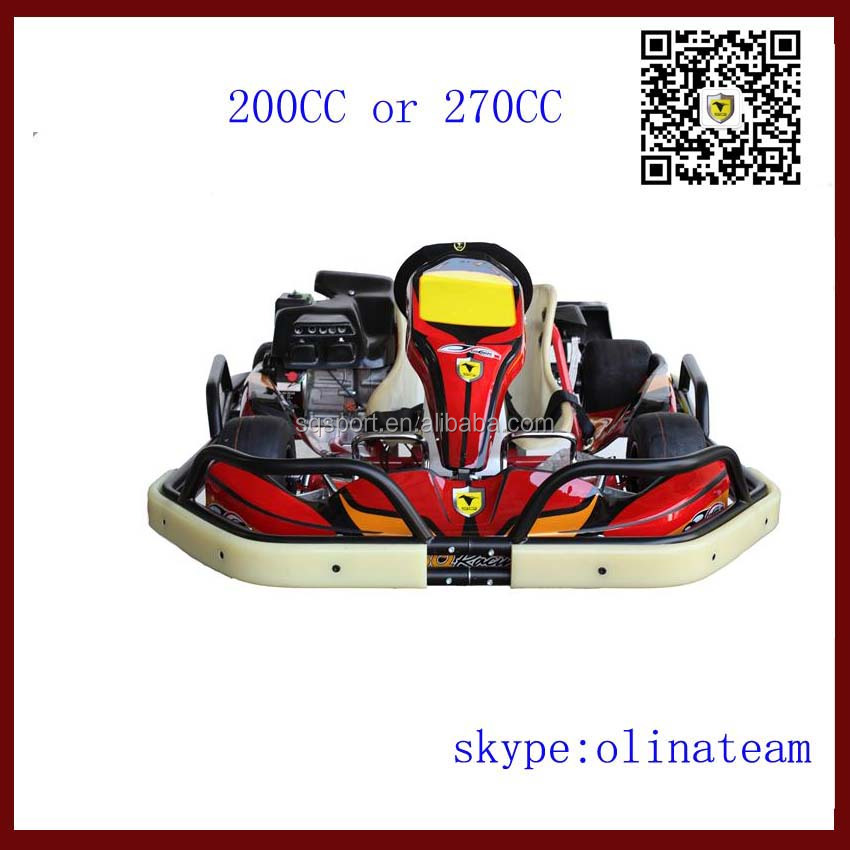 pedal go kart 200cc or 2700cc with honda engine 4 stroke single seat for hot sale
