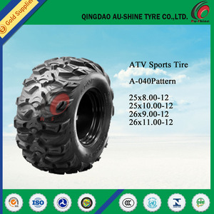 China supper friction china atv mud tires 25x10-12 ATV Tires 25x10 12 for sale