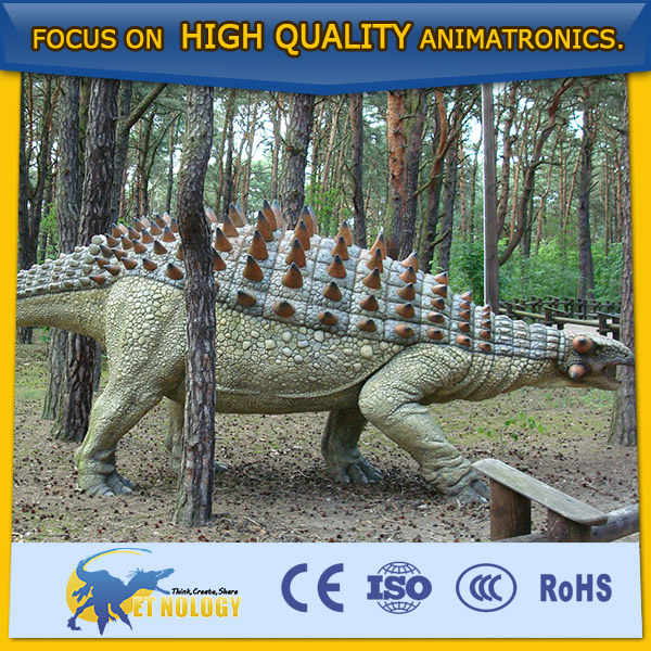 High Quality Cetnology Movable Animatronic Dinosaur Model Ankylosaurus