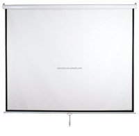 1:1 Manual SCREEN Pull - down Wall Mounted Manual Projector Screen with matte white