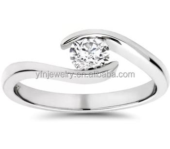 2897c56ef8ab Joyería de plata ópalo redondo solitario anillo de compromiso Forever Love  Promise anillo