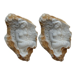 Natural Stone Figure Relief Sculpture Beauty Nude Lady Statues