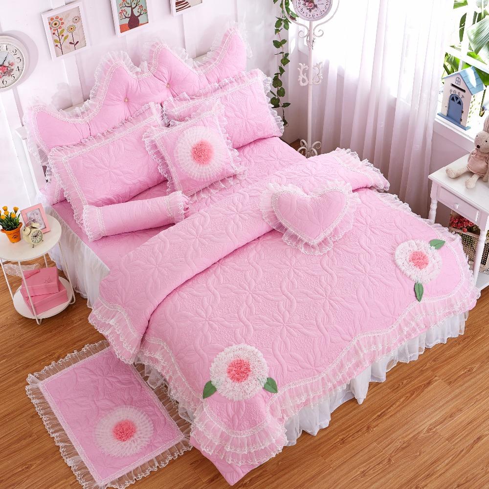 Venta al por mayor ni as juego de cama de color rosa - Cama princesa nina ...