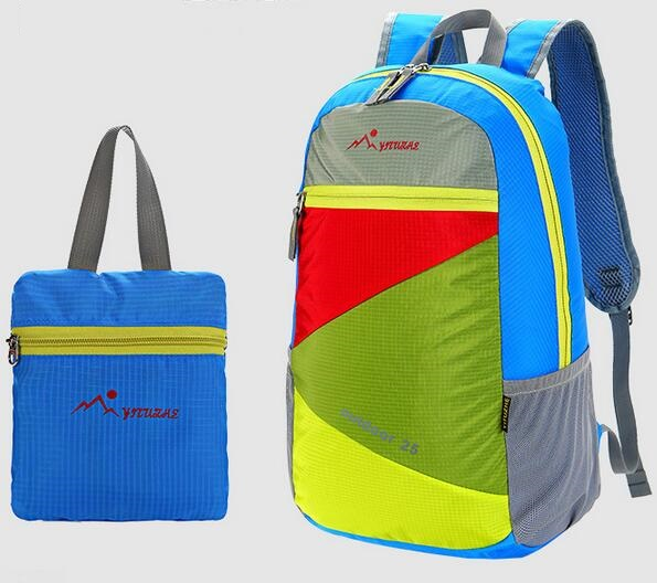 Top quality reflective Foldable Lightweight daily BACKPACK Folding Childrens Rucksack Bag Beach SCHOOL hiking travel backpacks