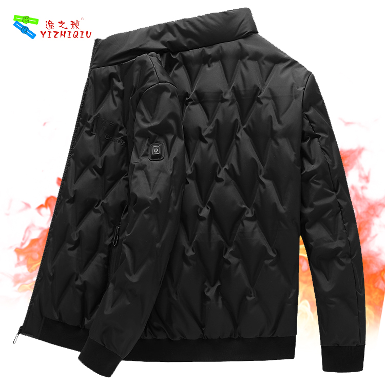 YIZHIQIU winter battery heated down jacket for men
