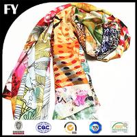 Fashion style custom design digital printed mens printed scarf
