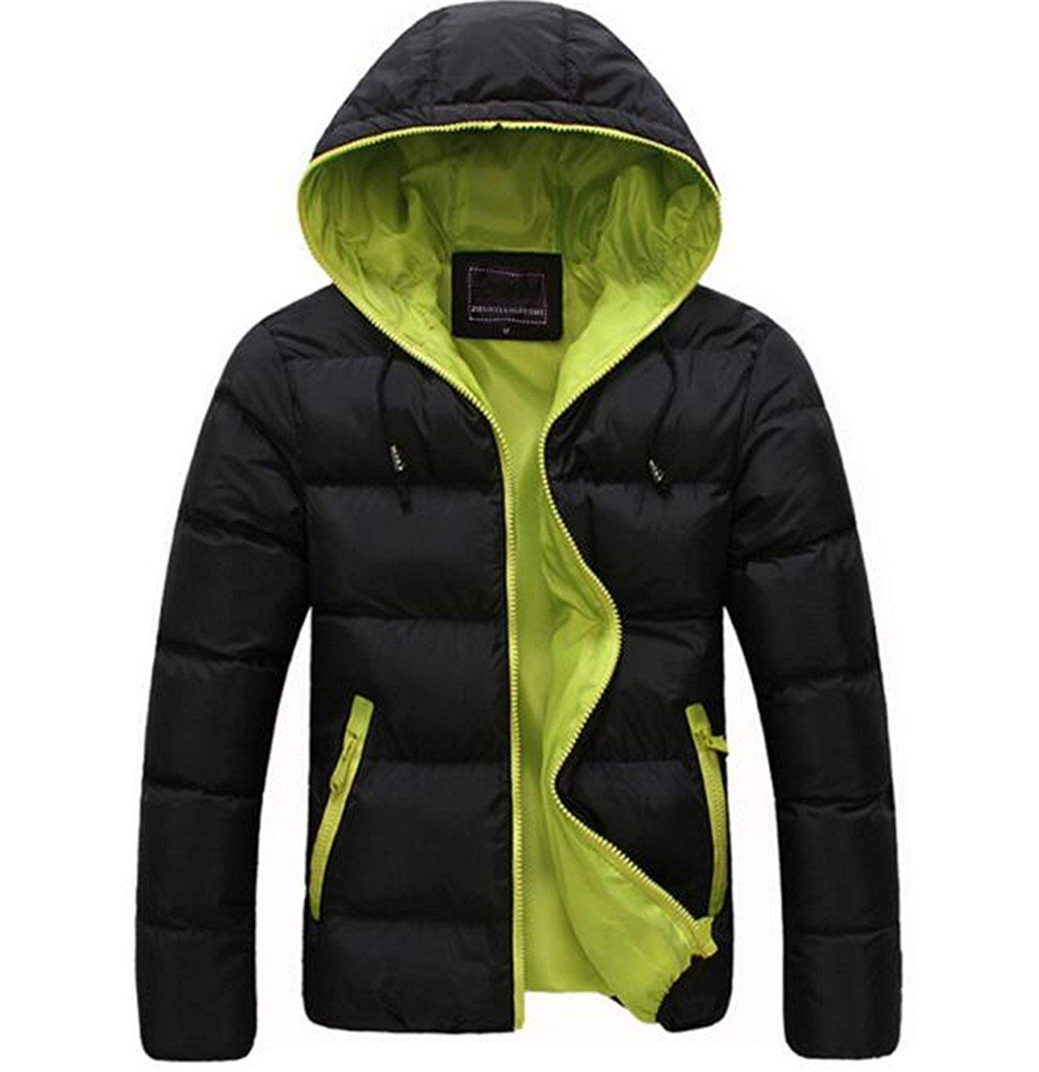 Ptyhk RG Men Big And Tall Fleece Hoodies Padded Coat Outdoor Parka Outwear