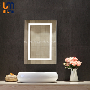 Hotel Home Washroom Decoration Lighted Dressing Room With Storage Medicine Cabinet Bathroom Mirror