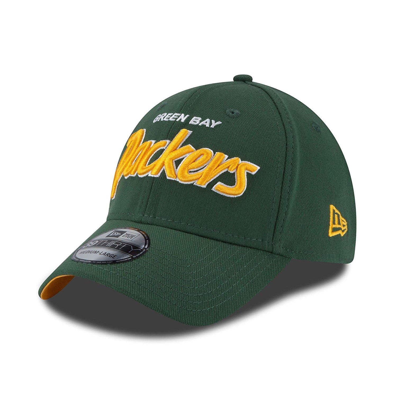 new product f83a7 ccea7 Get Quotations · Green Bay Packers Script Sign Flexfit Cap - Green