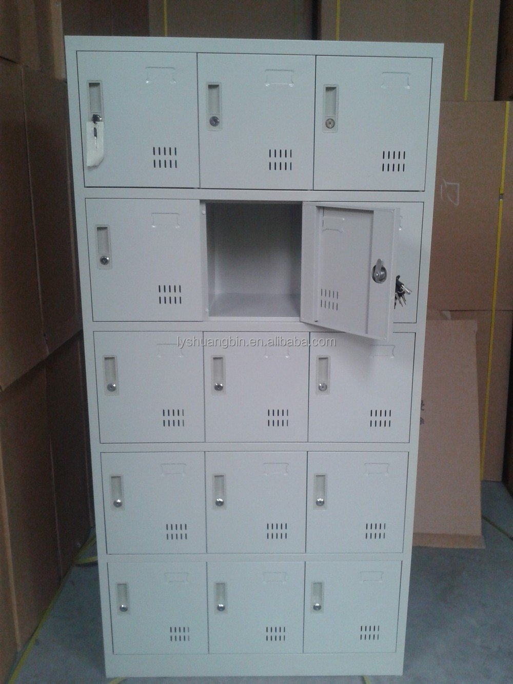 Cold-roll Steel Hair Salon Storage Locker Cabinet/15 Doors Clothes ...