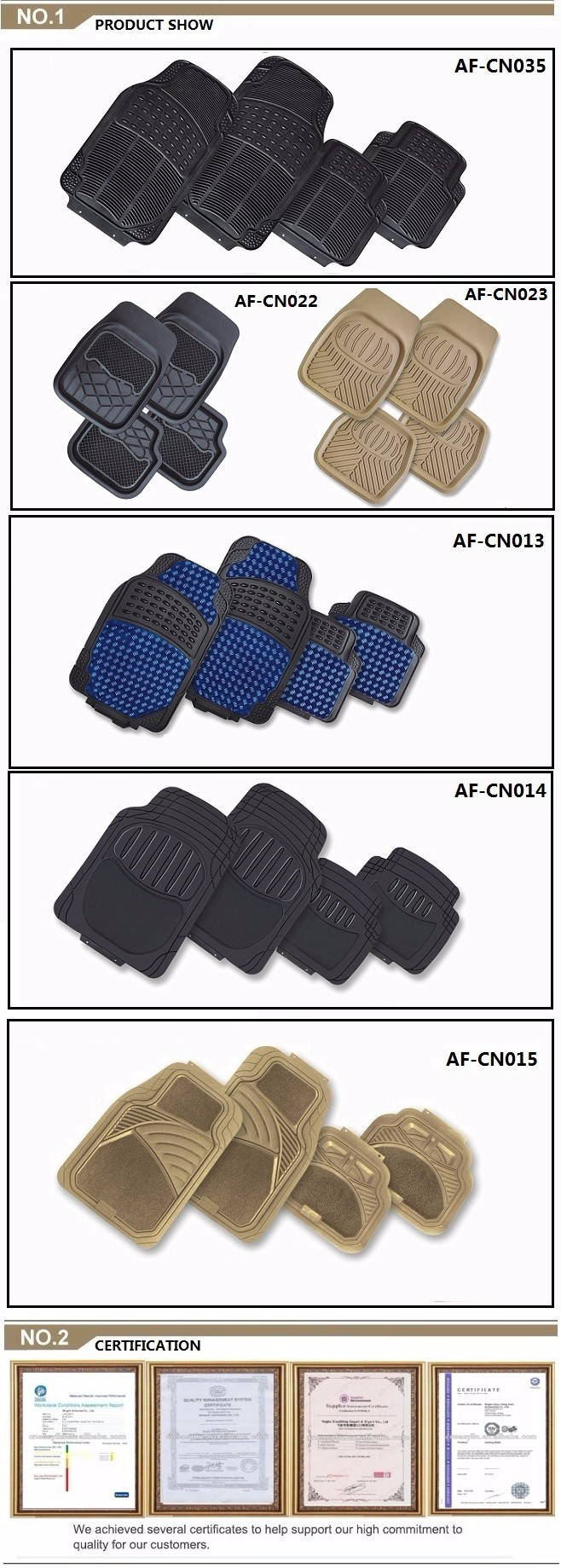 High Quality Practical Car Floor Mats