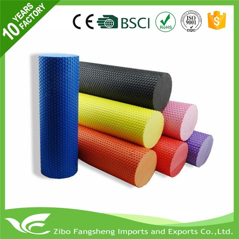 Plastic eva foam roller factory supply fitness foam roller machinery eva+abs foam roller exercise made in China