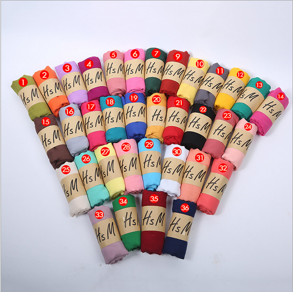 Freeshipping ! wholesale cheap fashion solid color cotton Women's Fashion Long Shawl <strong>Scarf</strong> with 36 colors