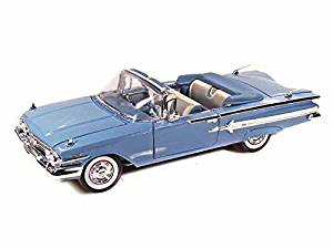1960 Chevy Impala Convertible 1/18 Blue by Chevrolet