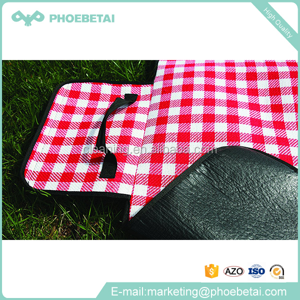 picnic blanket waterproof / picnic blanket zipper / polyester wool fabric