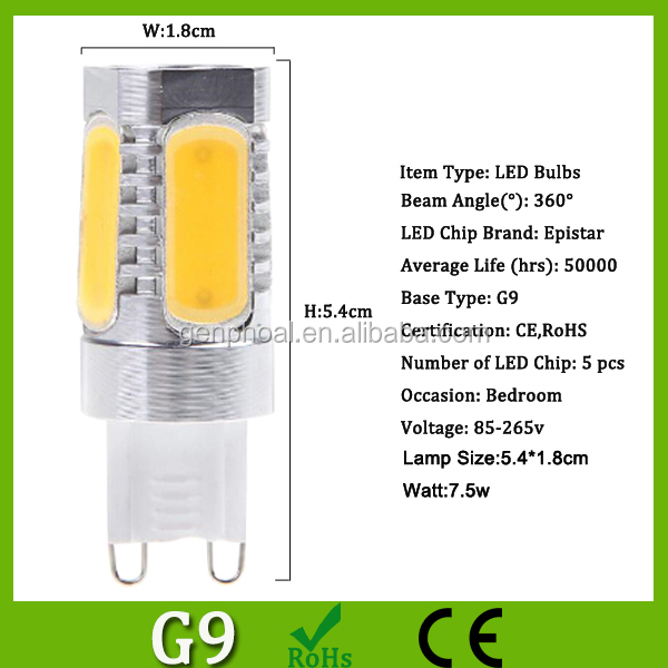 2015 Newest 120v 230v G9 Led Bulb 4w Replacement 40w G9 Halogen ...