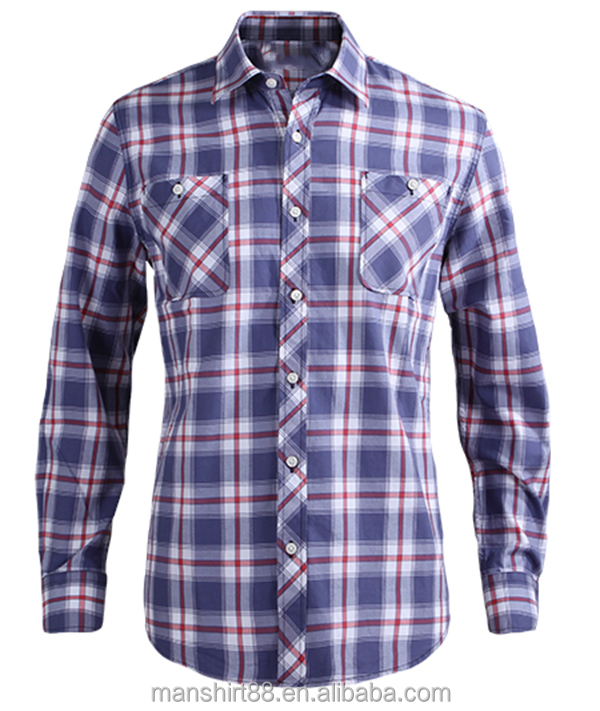 2017 new fashion causal shirt for men 100% cotton flannel shirt