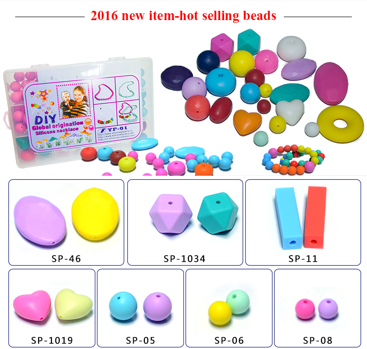Wholesale Most Popular Silicone Beads Teething Necklace For Babies