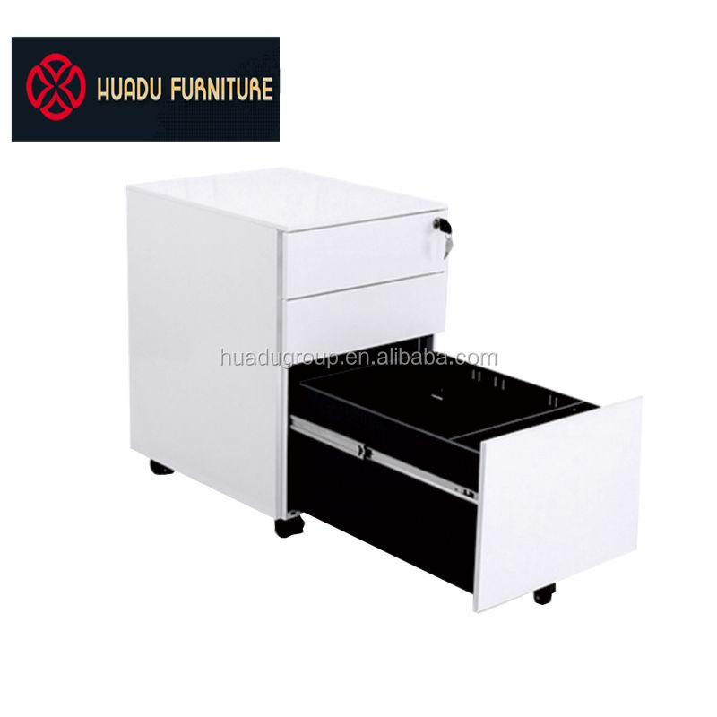 Quality Office Steel Mobile Pedestal Lockable 3 Drawer Filing Storage  Cabinets Movable Under Desk Filing Cabinet