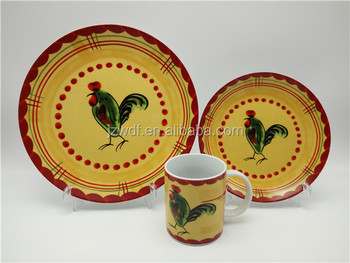 High quality and cheap 12pcs hand painted ceramic chicken pattern dinnerware wholesale alibaba & High Quality And Cheap 12pcs Hand Painted Ceramic Chicken Pattern ...