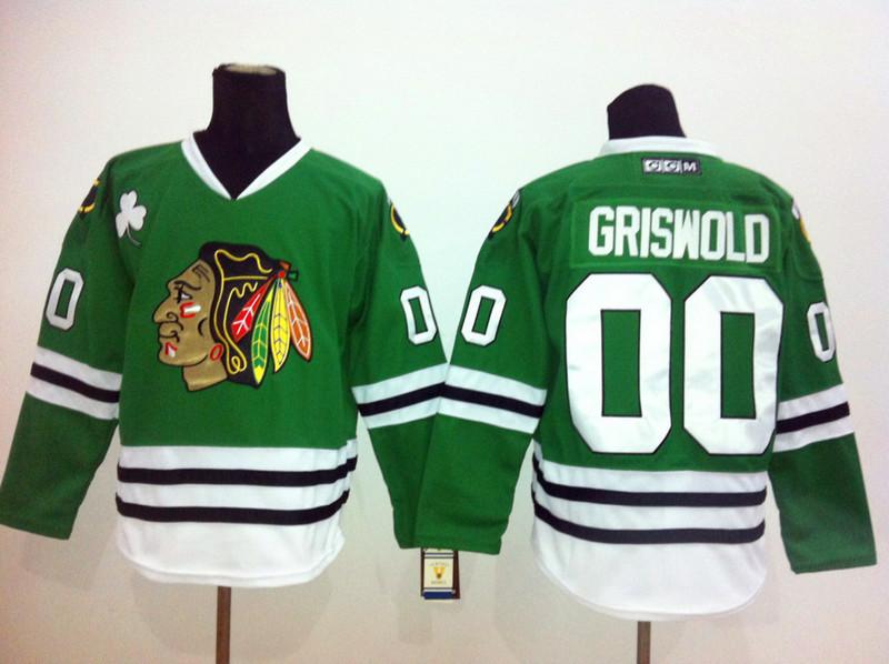 canada mens ice hockey jersey chicago blackhawks jerseys sewn logos 00  clark griswold white ccm vintage 9af404e3b