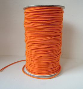 Wrapped Silk Satin CordElastic cord - ORANGE - 2 mm Rope Cord approx elastic string