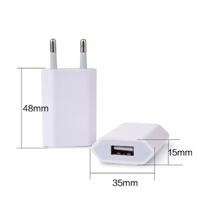 5V1A Universal Colorful USB Travel Wall Charger Durable Fast Charger With EU Plug For Mobile Phone