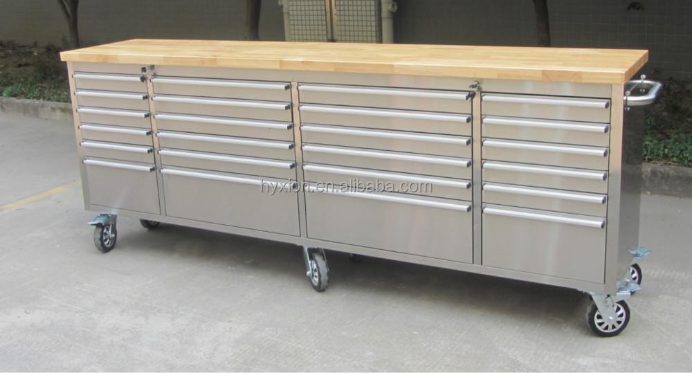 96 Inch High Quality Garage Tool Cabinet With 24 Drawers