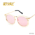 STORY Big Round Rose Gold Lens Pink vintage glasses metal retro Sunglasses for women