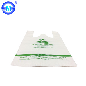 Supermarket Clear Plastic printed t shirt bag on roll for vegetable and fruit