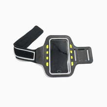 Top quality led reflective armband sports led mobile phone bag