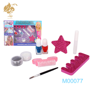 New toys 2018 kids diy nail manicure fashion kit girls beauty set