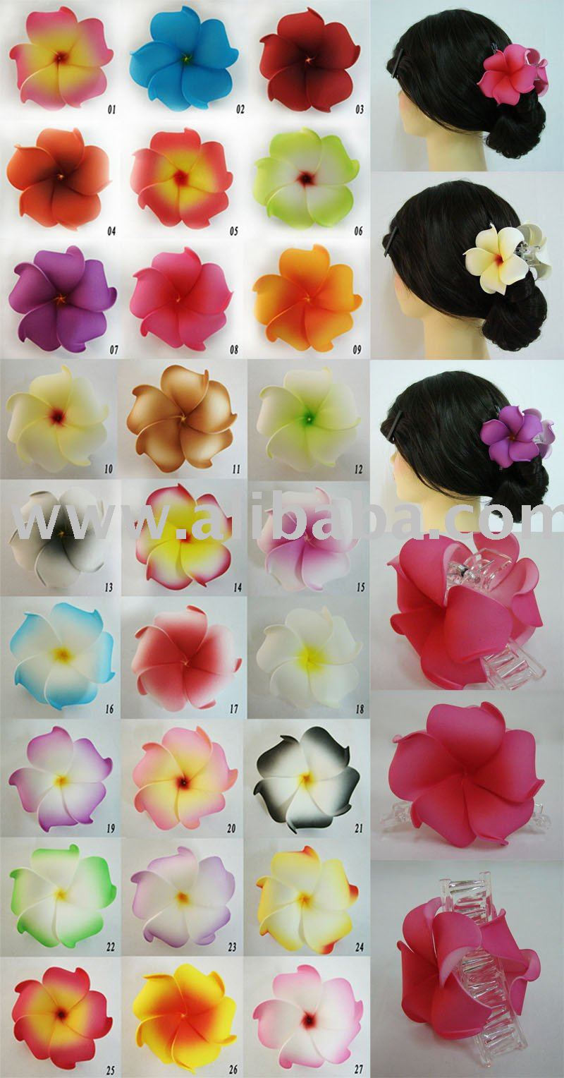 Hawaiian plumeria foam flower hair claw buy hawaiian plumeria foam hawaiian plumeria foam flower hair claw buy hawaiian plumeria foam flower hair comb product on alibaba izmirmasajfo