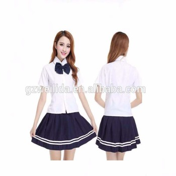 eff7fd2dc9a New Asian High School Girls Classical Summer 3pcs fancy Dress Uniform OEM
