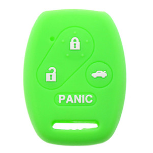 fob 4 buttons silicone car key shells for honda remote keys with panic buttons